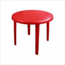 Стол круглый (900х900х750)(красный)(уп.1)