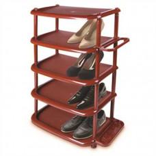 Полка для обуви 2 пары 5 ярус коричневая