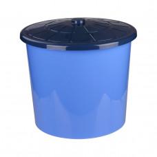 Бак 75л с крышкой универсальный (синий)