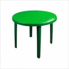 Стол круглый (900х900х750)(зеленый)(уп.1)