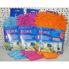 Рукавица для уборки YORK SALSA микрофибра