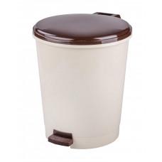 Ведро для мусора с педалью 12л (слон.кость)