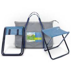 Набор походных  складных стульев 2шт  с замкнутой ножкой на метал...