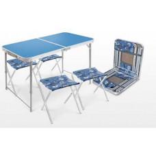 Набор ССТ-К2: стол пласт ( синий ) и 4 ст