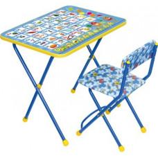 """Комплект """"Познайка""""  (стол+стул мягкий моющийся) микс"""
