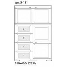 Шкаф пластиковый УЮТ Э-131