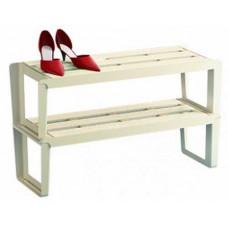 Этажерка для обуви Slip 2-х секц. (слоновая кость)