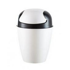 Ведро Clean 8 л (снежно-белый) для мусора