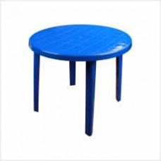 Стол круглый (900х900х750)(синий)(уп.1)