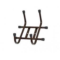 Вешалка настенная 2-х рожковая, коричневая, трубка