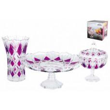 Набор посуды 1/3 цвет.упак. Даймонд фиолет.