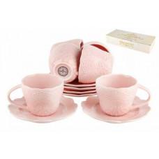 Набор чайный 6/12 250мл п/у  Кружево розовое
