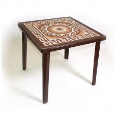 Стол квадратный с деколем «Греческии орнамент»